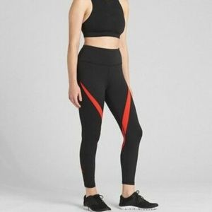Gap High Rise Spliced Stripe 7/8 Leggings